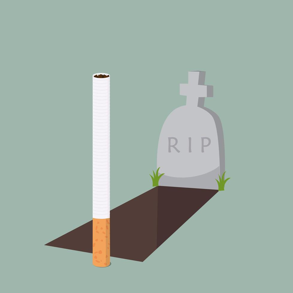 cigarett med grav vektor