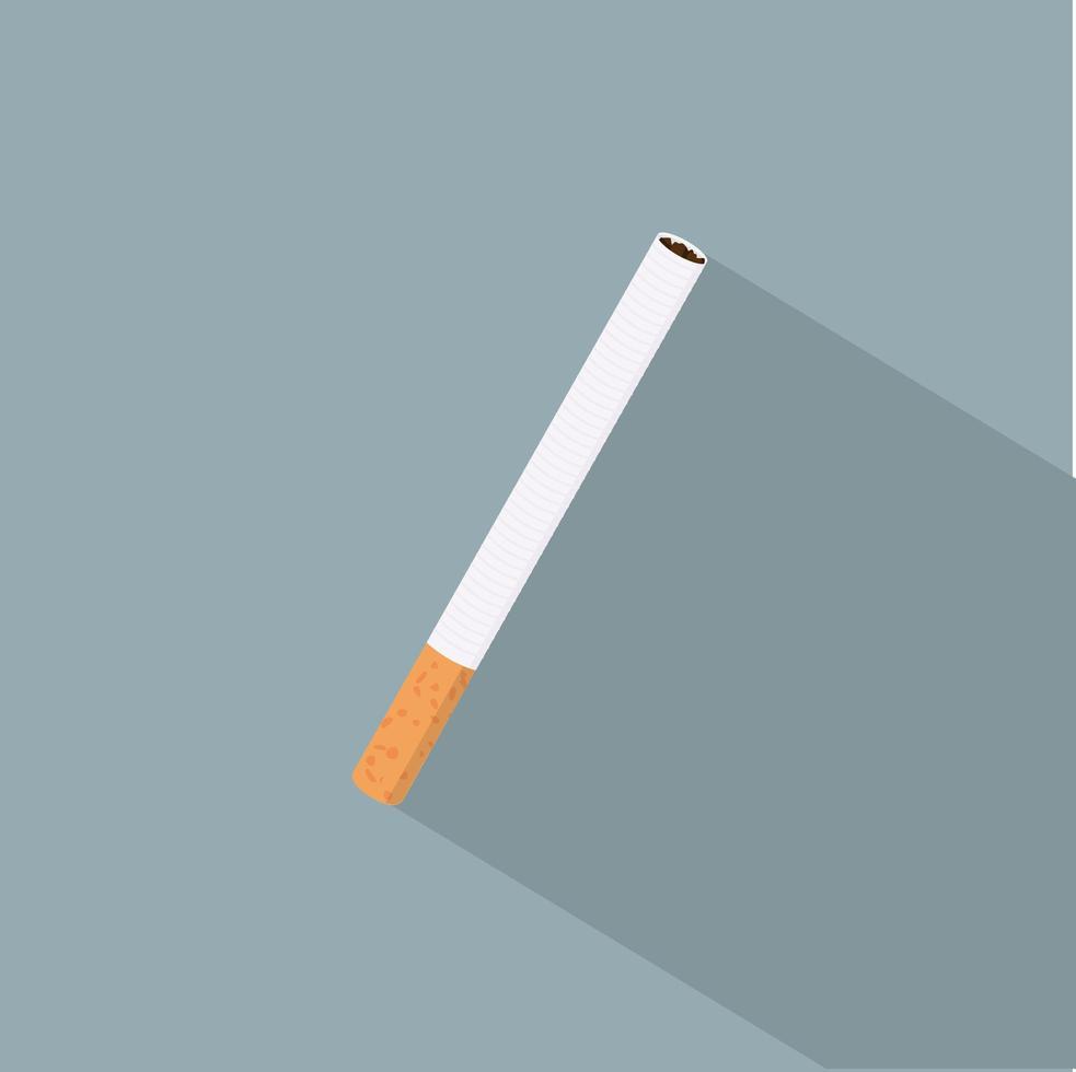 enda cigarett med lång skugga vektor