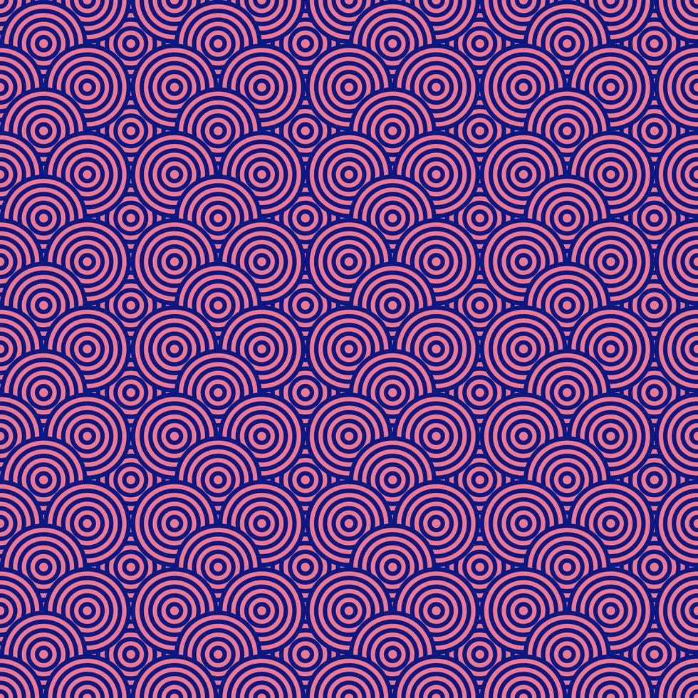 rosa och blå cirklar sömlös bakgrund vektor