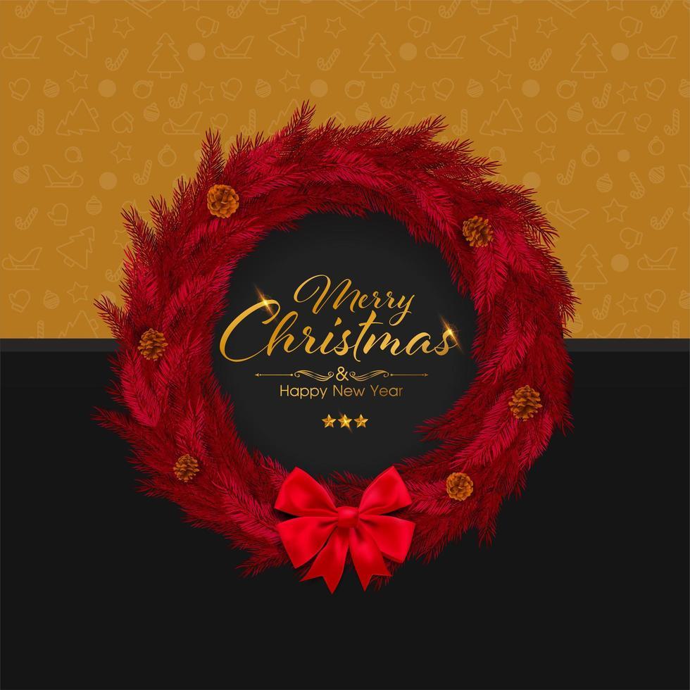 god jul och inbjudningskort för gott nytt år vektor
