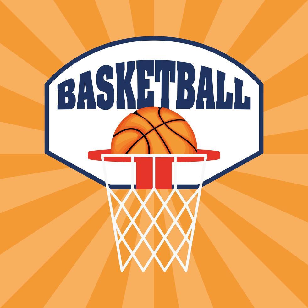basket och sport banner vektor