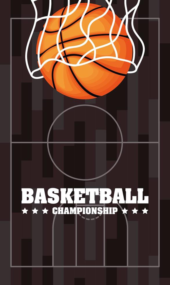 basket och sport mästerskap affisch vektor