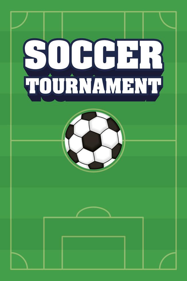 Fußball Fußball Sport Turnier Poster mit Ball vektor
