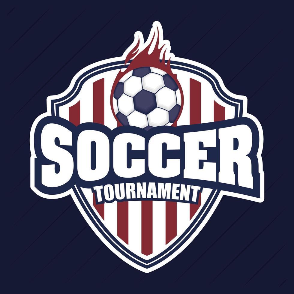 Fußball Fußball Sport Emblem mit Ball vektor