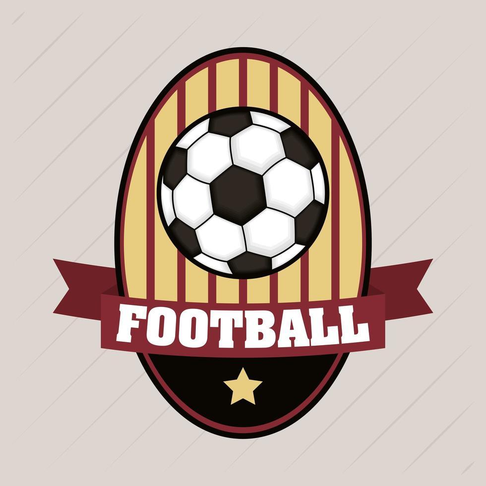 fotboll fotboll sport emblem med boll vektor