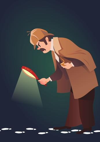 Detektiv Auf der Suche nach einem Hinweis vektor