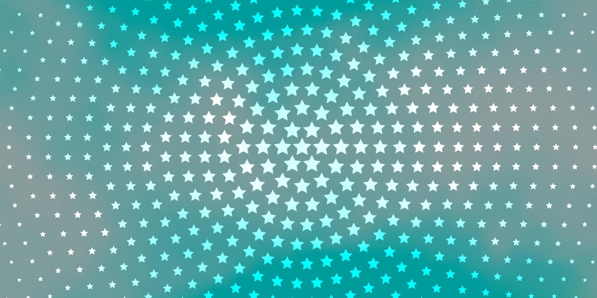 blauer Hintergrund mit bunten Sternen. vektor