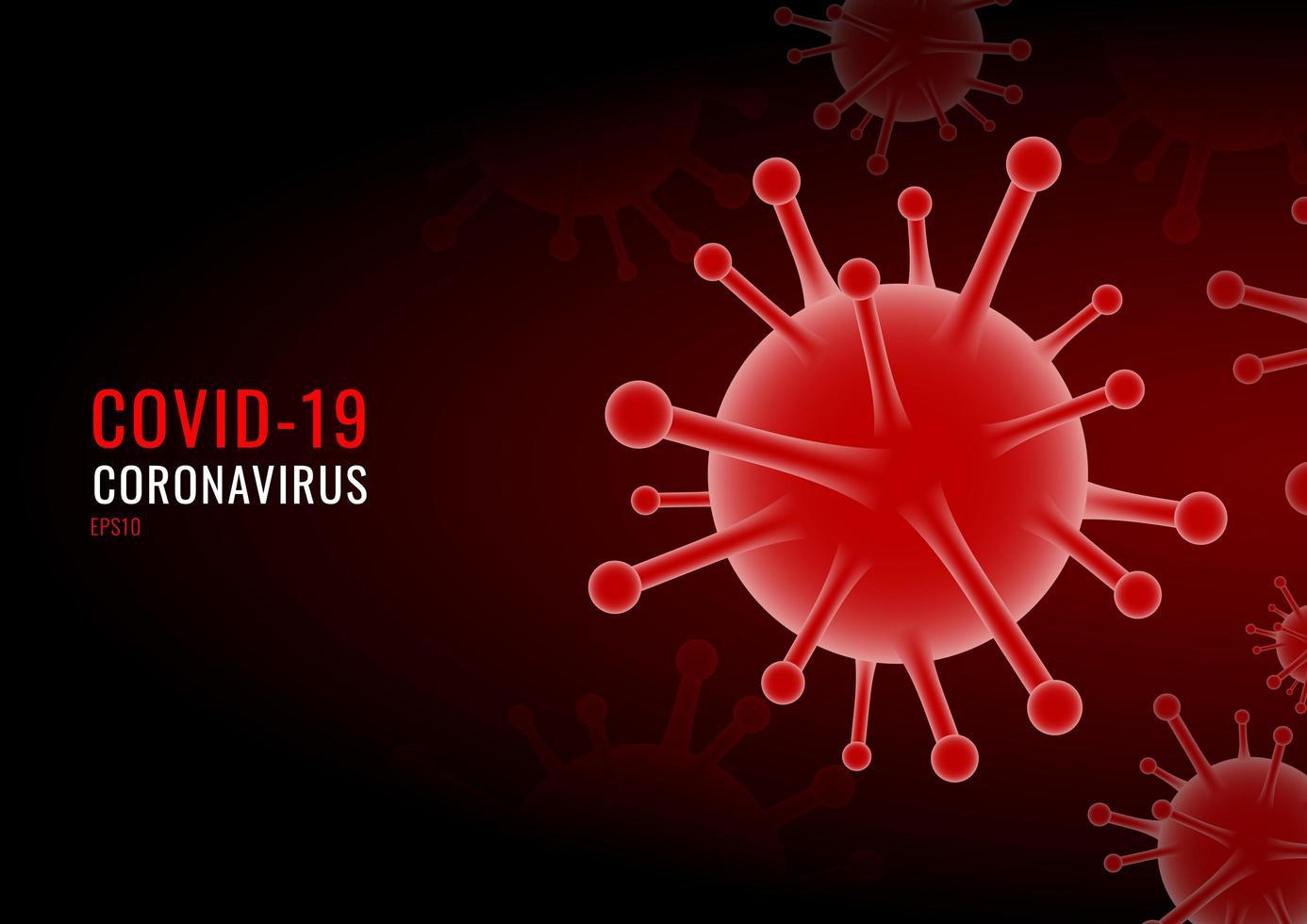 coronavirus covid-19 virus röd bakgrund vektor