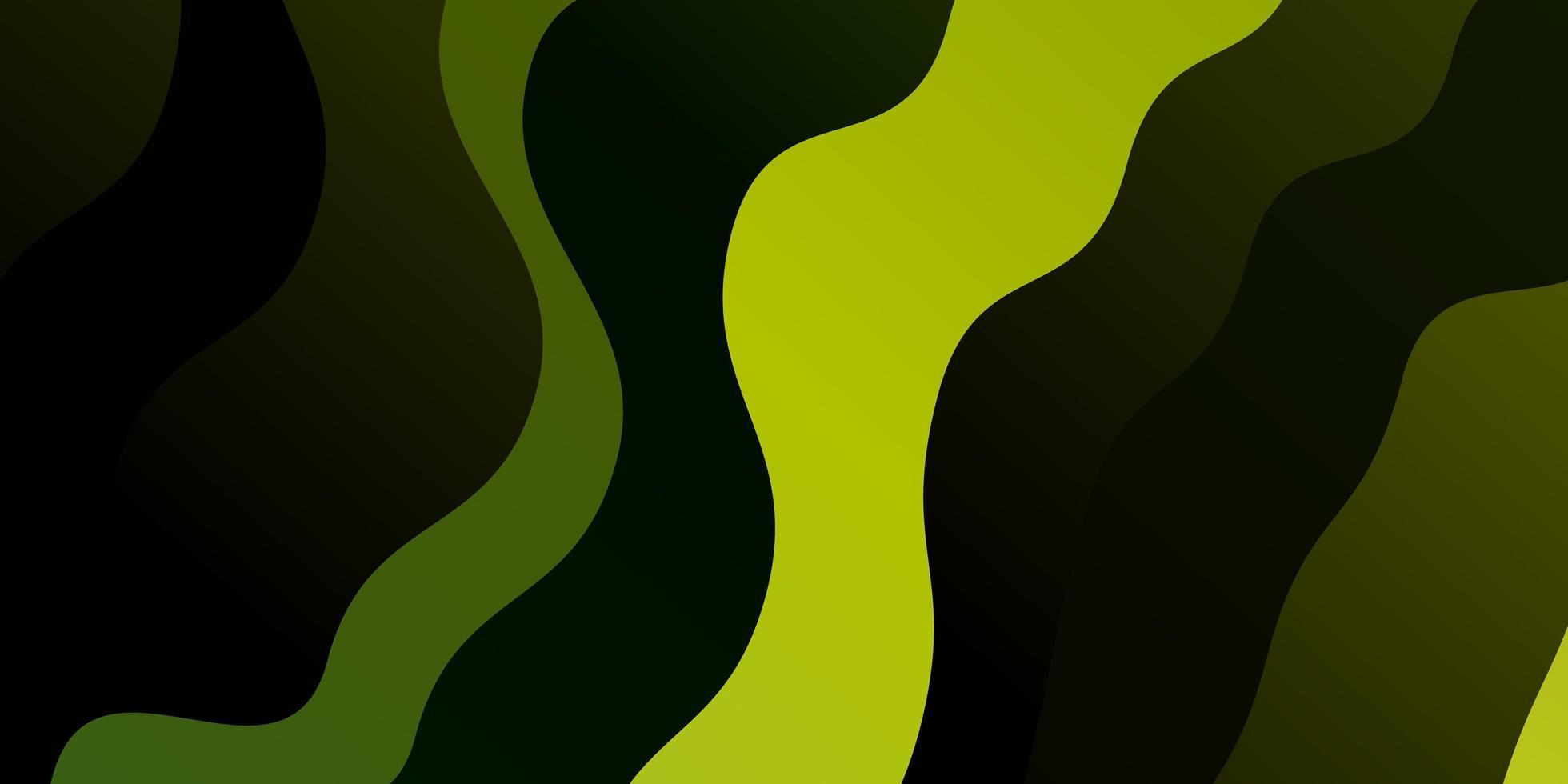 grüner Hintergrund mit gebogenen Linien. vektor