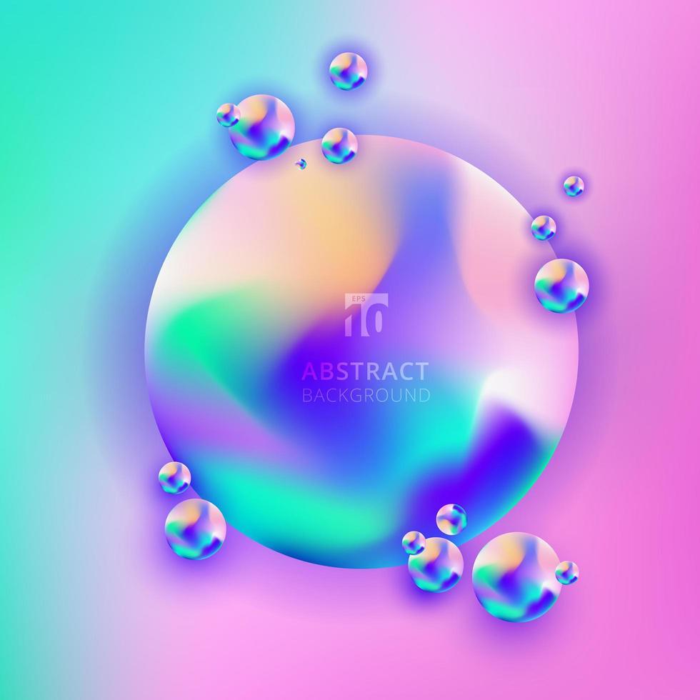 abstrakte trendige lebendige Farbe des 3D-Kreisverlaufs vektor