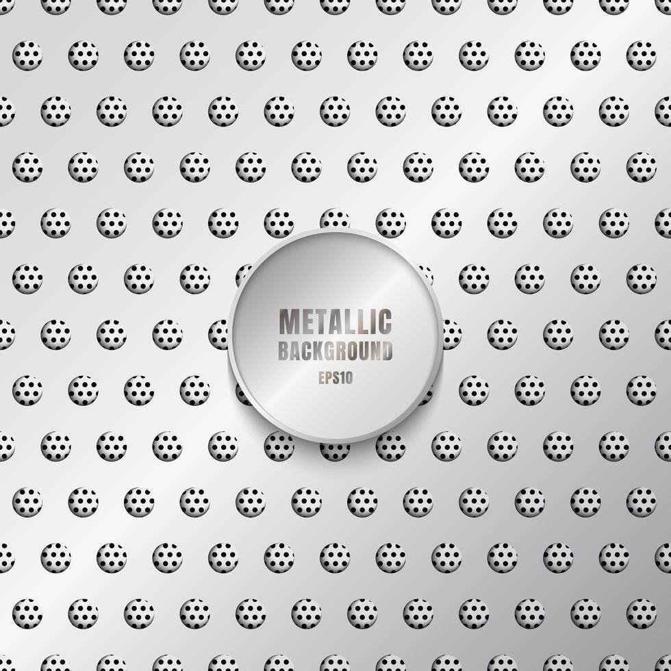 blank metallbakgrund i silverfärg vektor
