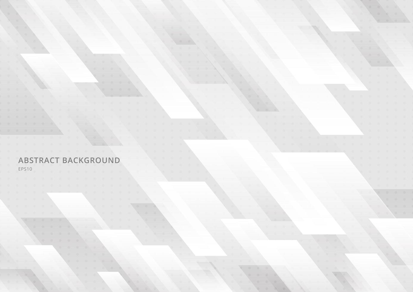 abstrakte moderne Form weiße und graue geometrische Diagonale. vektor