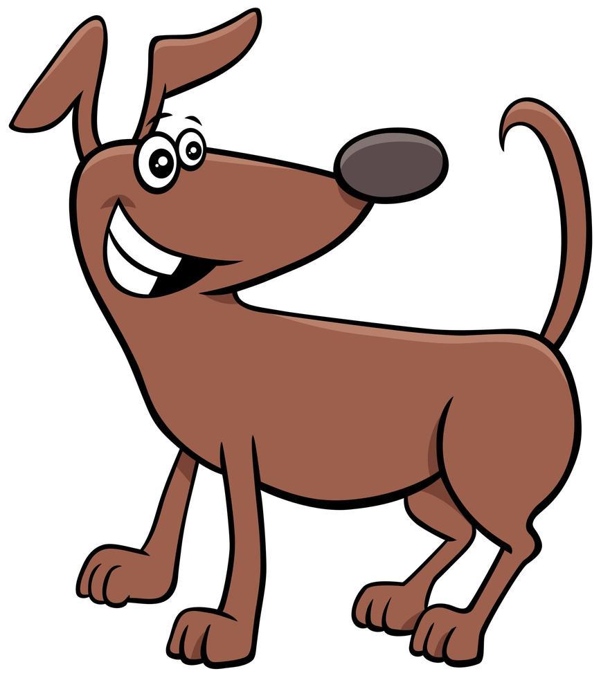Cartoon Hund oder Welpentier Charakter vektor