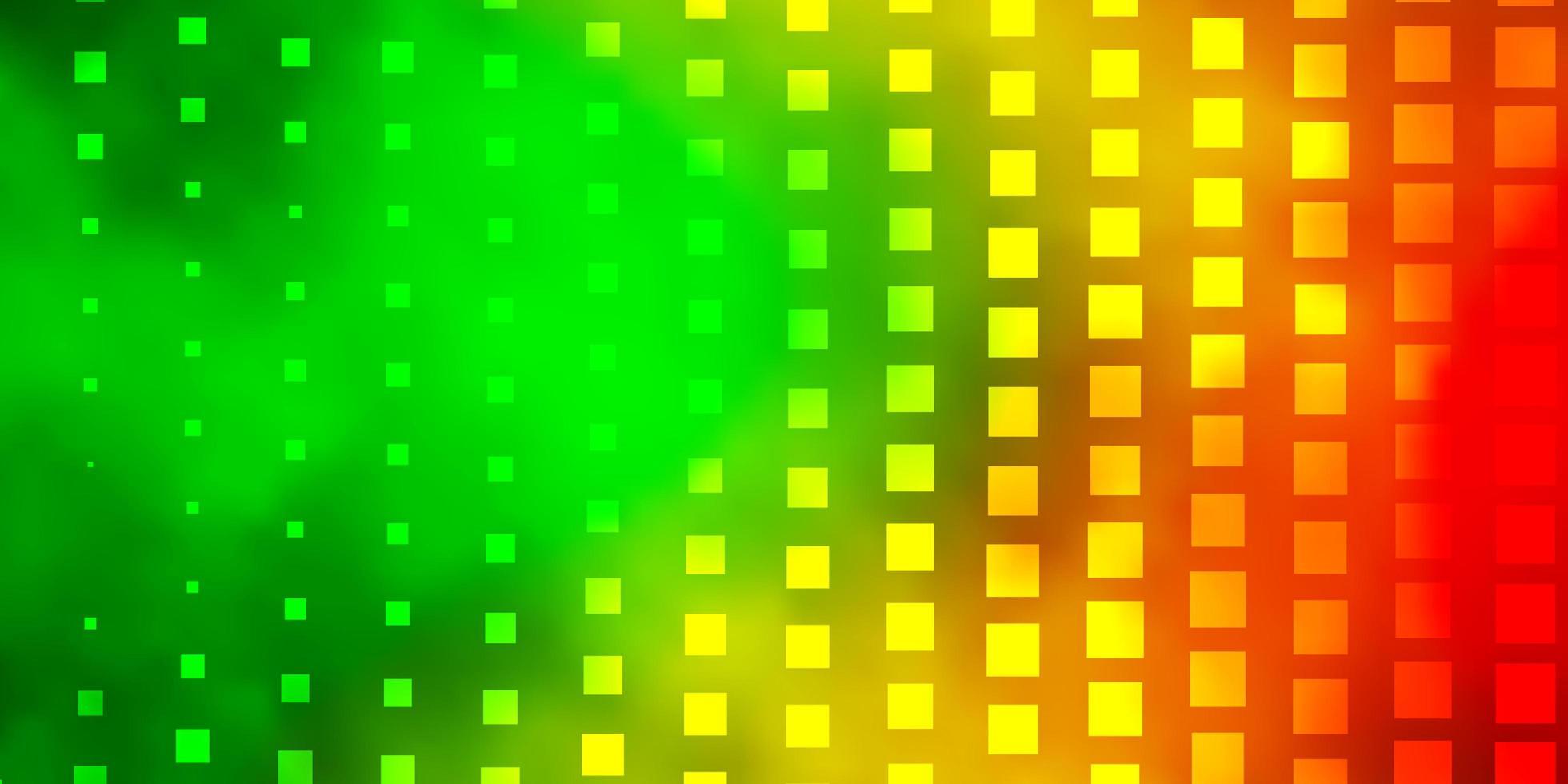 mörkgrön, gul bakgrund med rektanglar. vektor