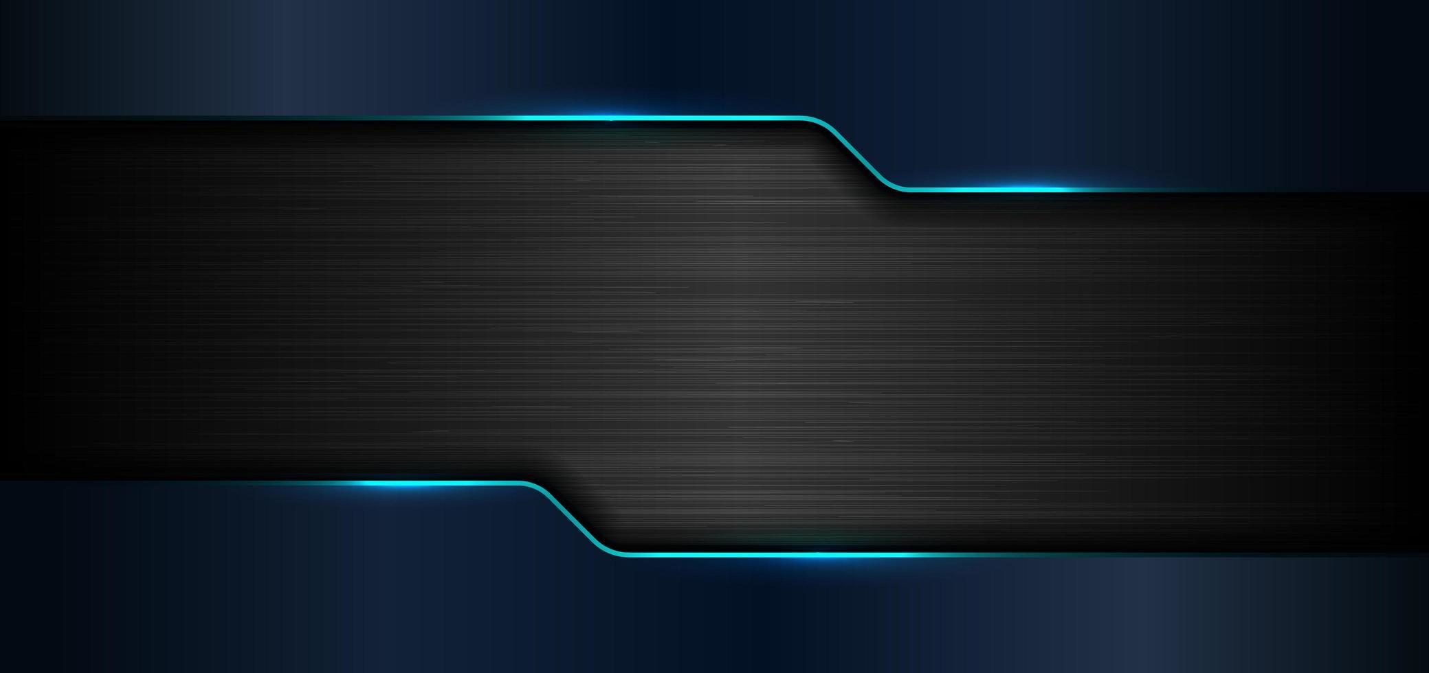 3D-banner webbmall geometriska blå glöd glänsande vektor