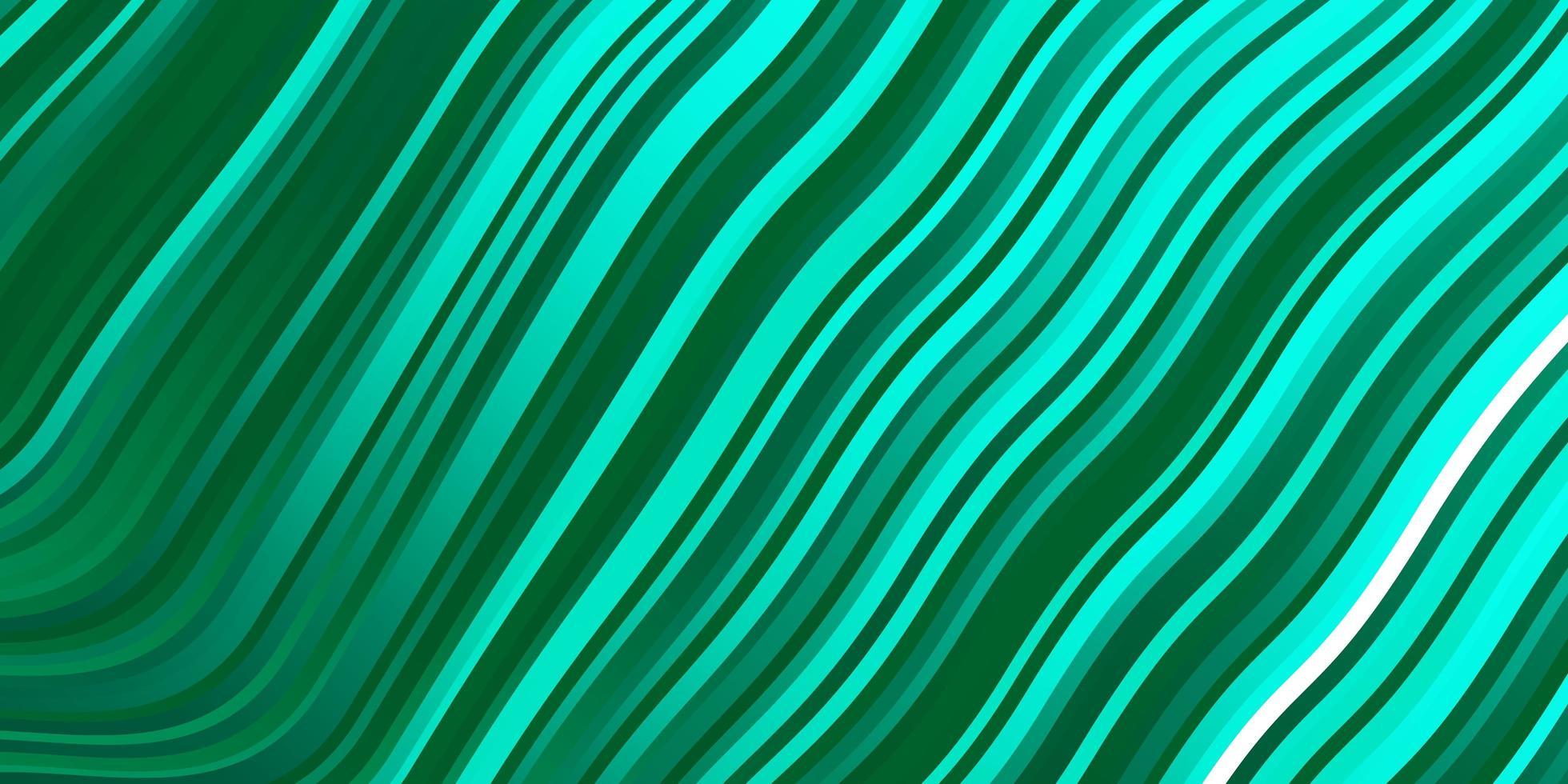 hellgrüner Vektorhintergrund mit gekrümmten Linien vektor