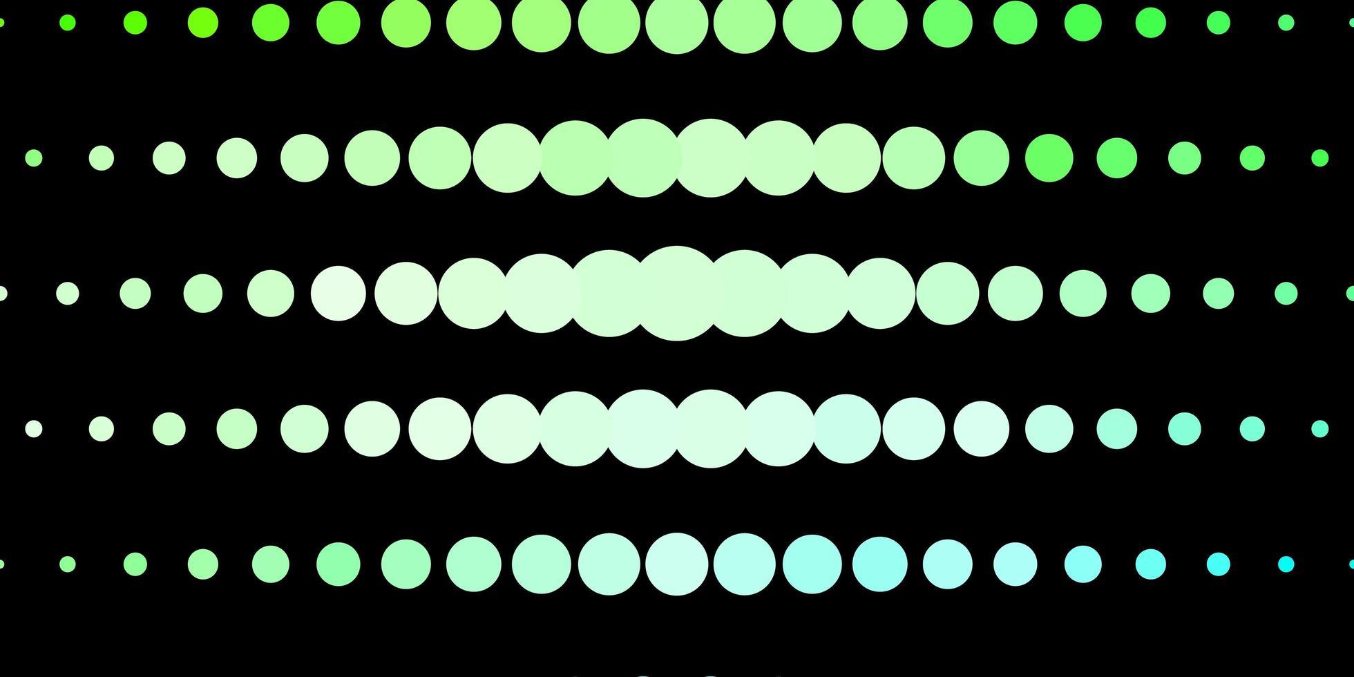 dunkelgrüne Vorlage mit Kreisen. vektor