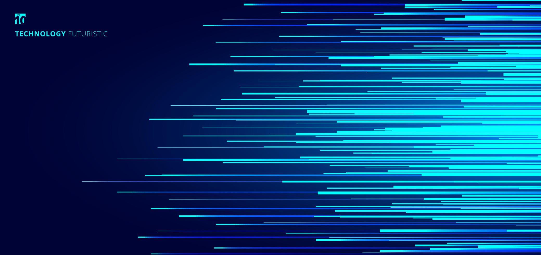abstrakt leuchtend blau horizontale Linien Muster vektor