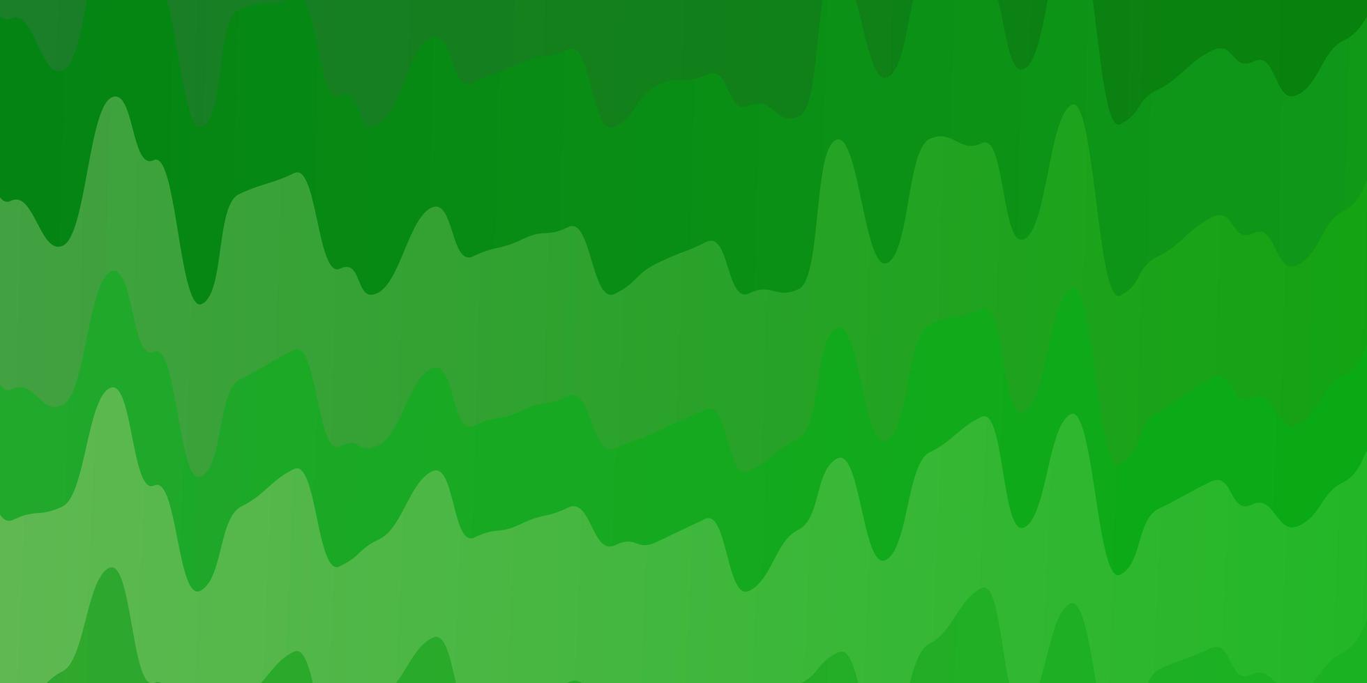 hellgrüner Hintergrund mit gekrümmten Linien. vektor