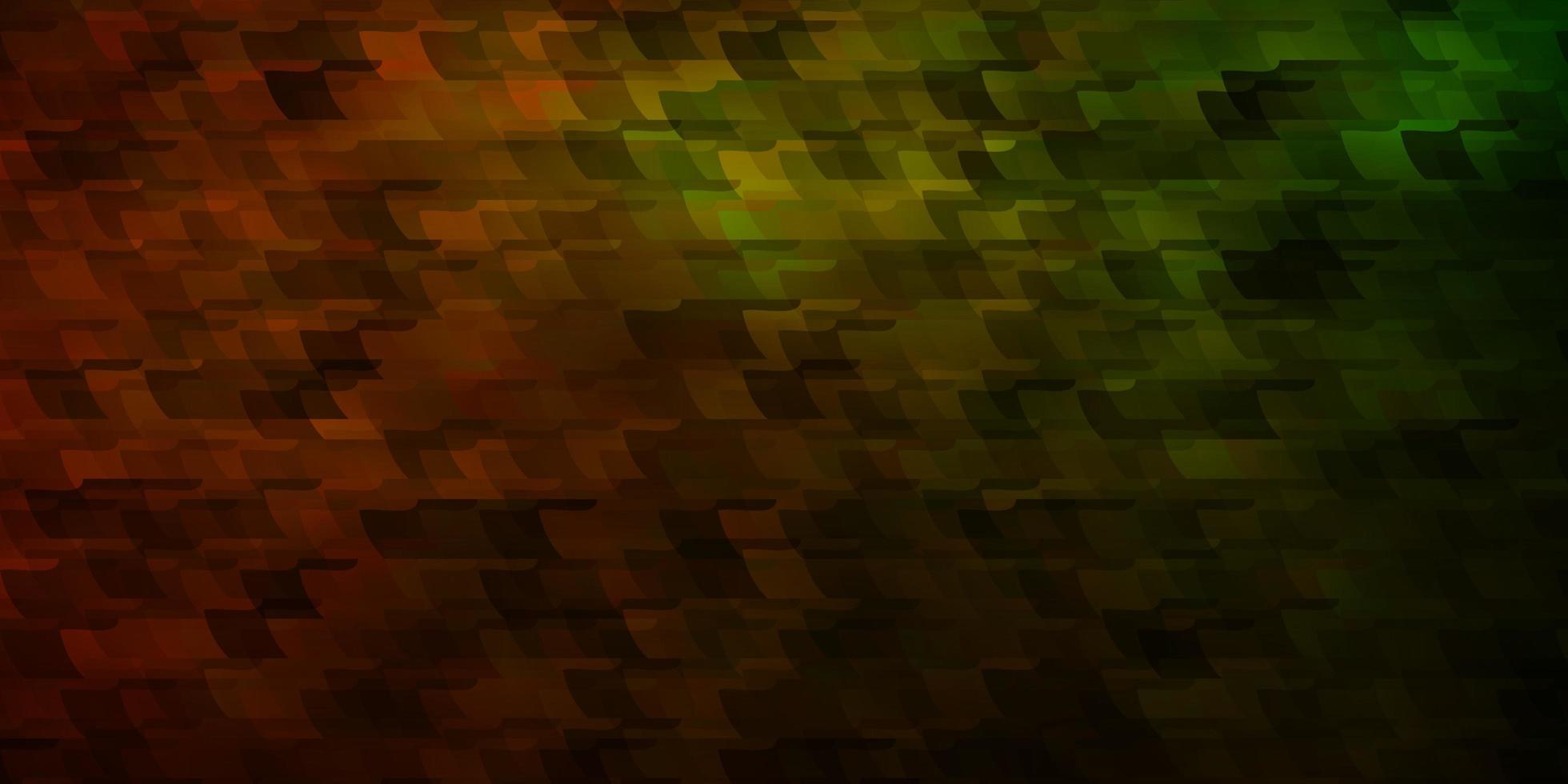 dunkelgrüner, gelber Hintergrund mit Rechtecken. vektor