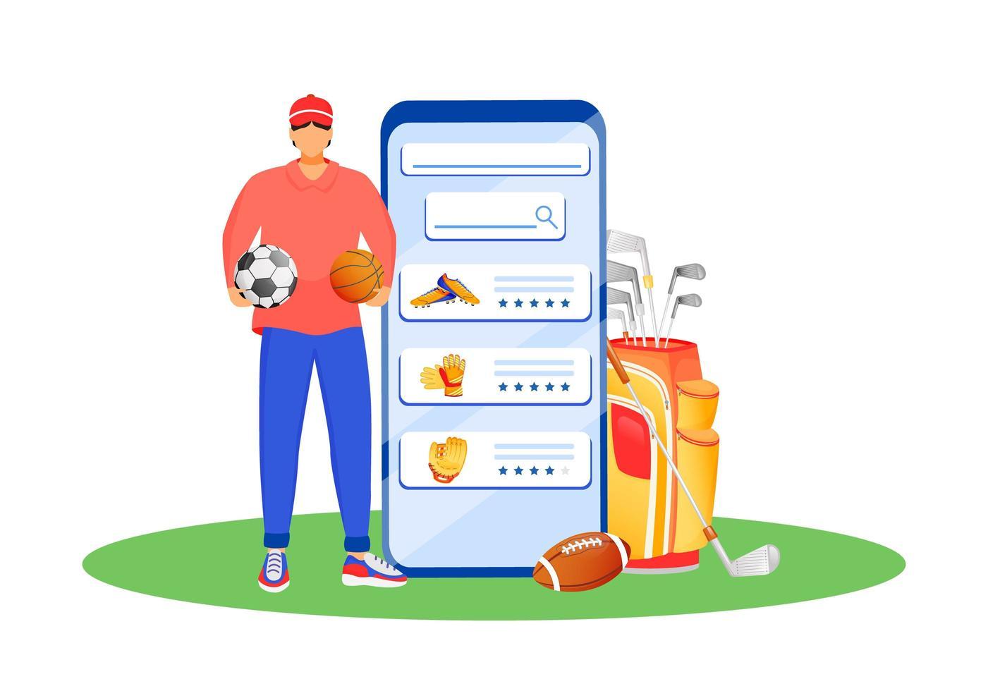mobilapp för sportkläder vektor