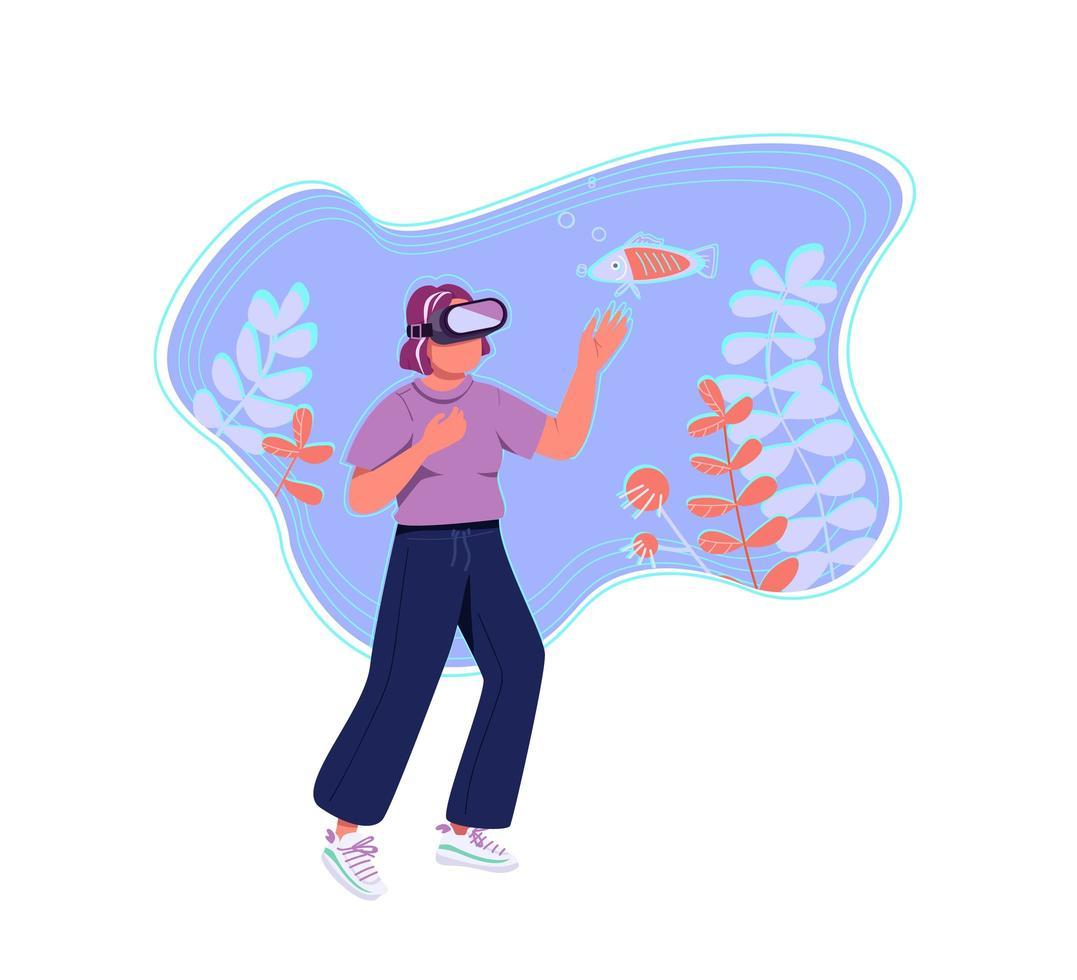 virtuell verklighetsupplevelse vektor
