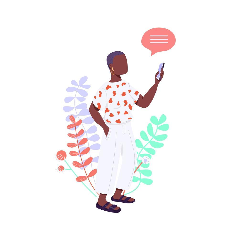 afroamerikansk kvinna vektor