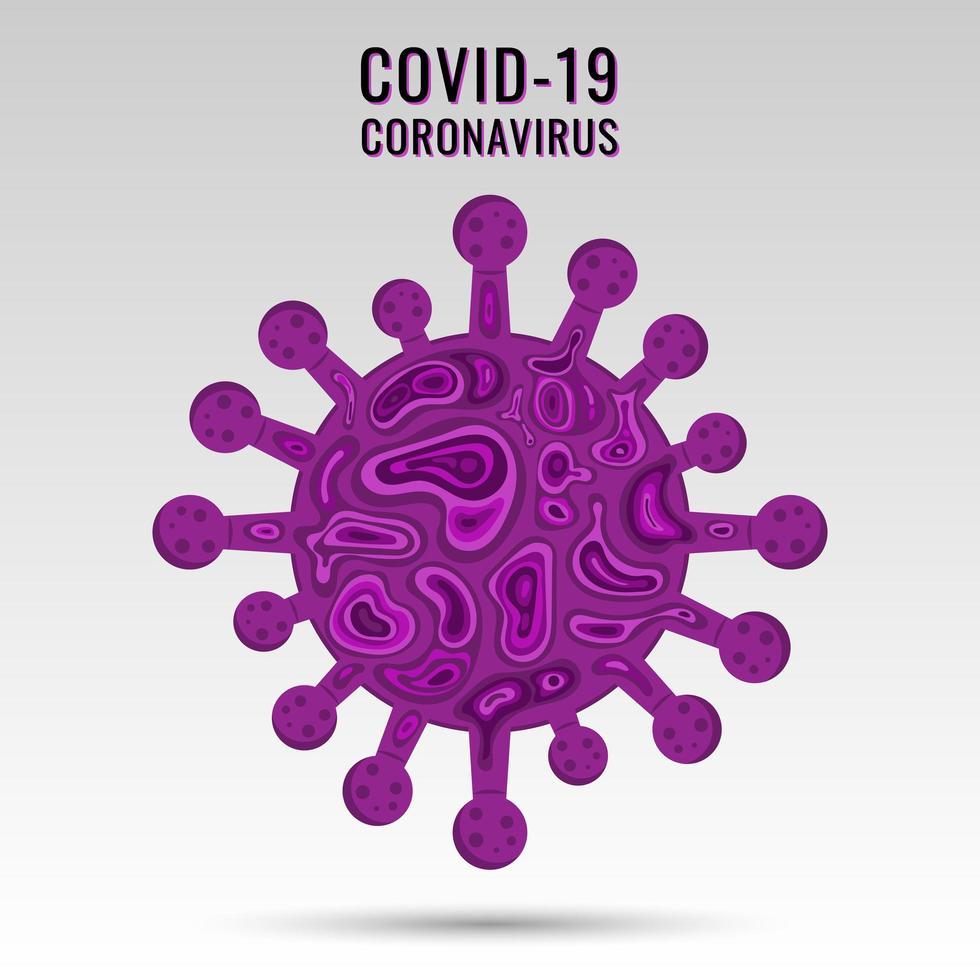 coronavirus covid-19 virussymbol och ikon. vektor