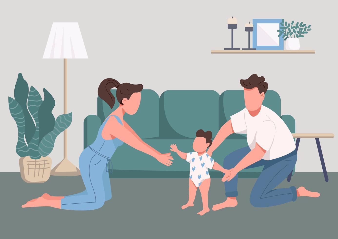 Familie glückliche Momente vektor