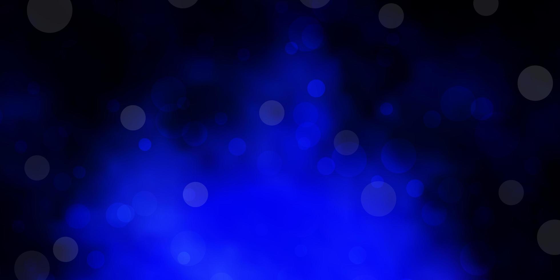 dunkelblaues Muster mit Kugeln. vektor