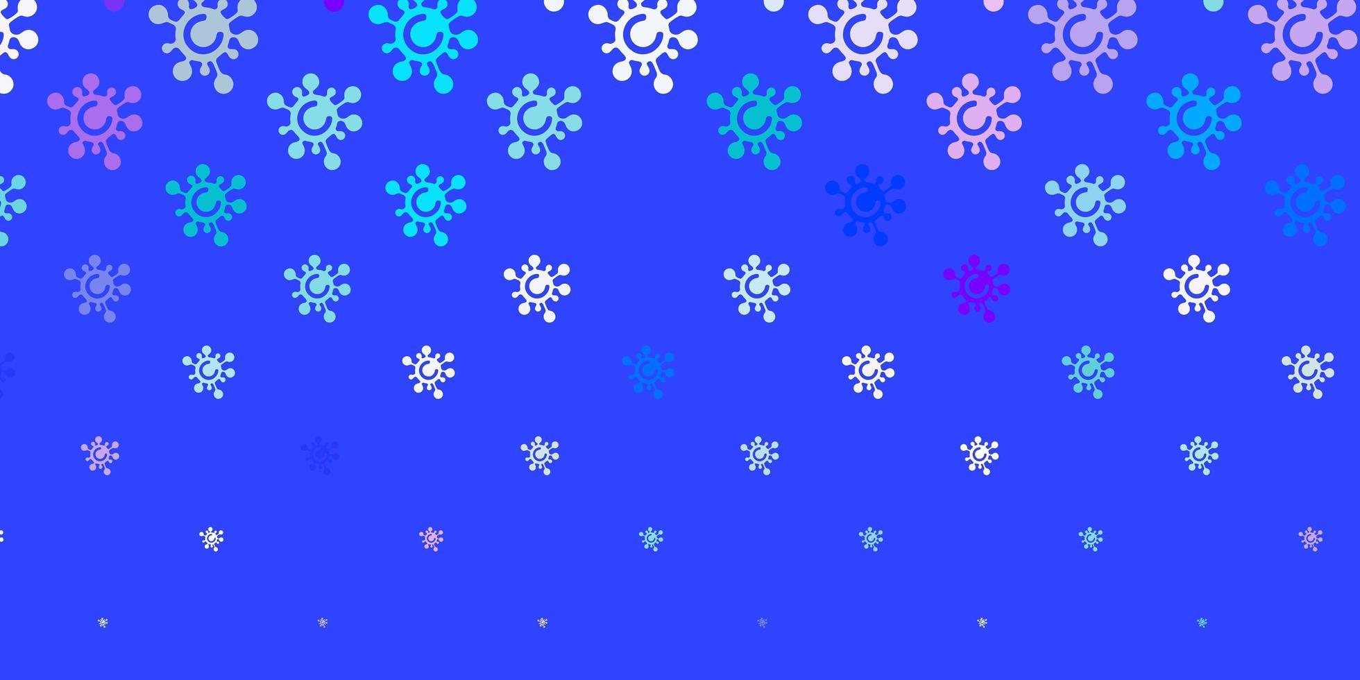 blaue, rosa Schablone mit Grippezeichen. vektor