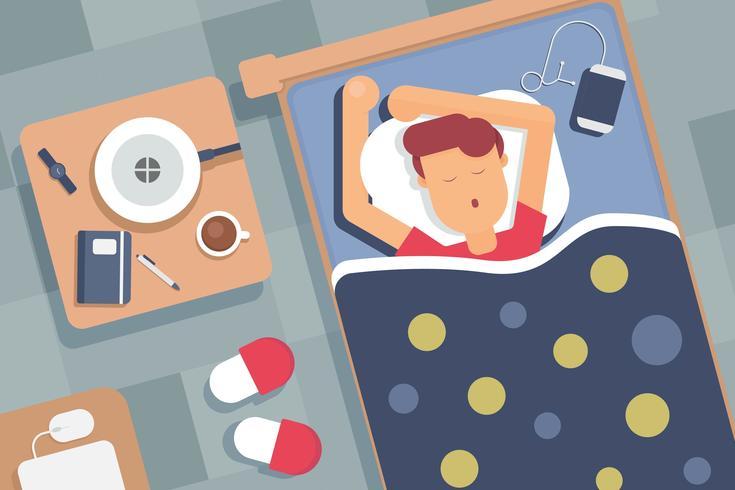 Kostenlose Schlafenszeit Vektoren