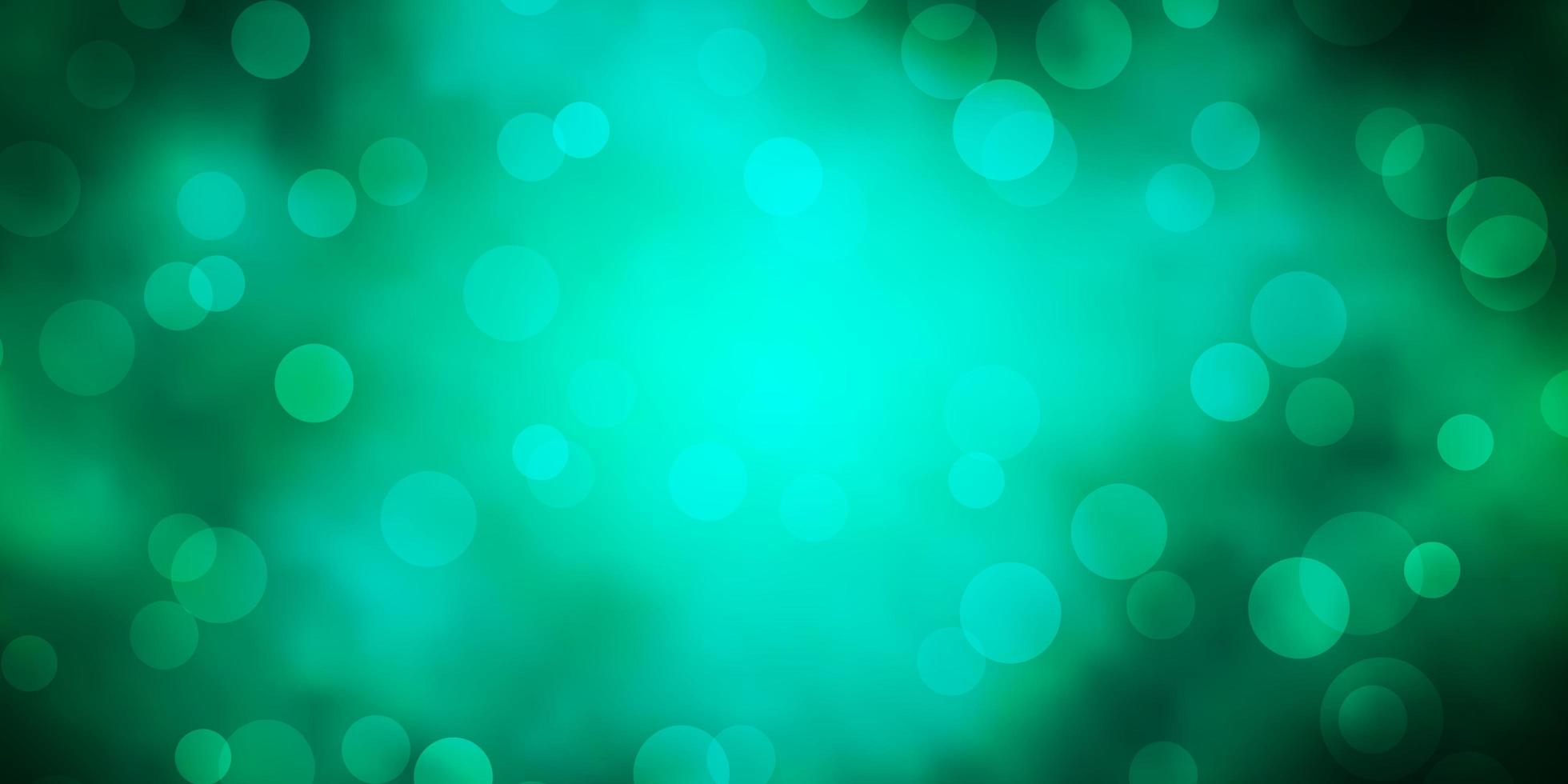 dunkelgrüner Hintergrund mit Kreisen. vektor