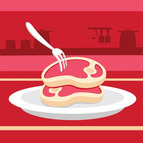 Einfache Kalbfleisch-Vektor-Illustration vektor
