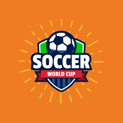 WM-Fußball-Logo-Abzeichen vektor