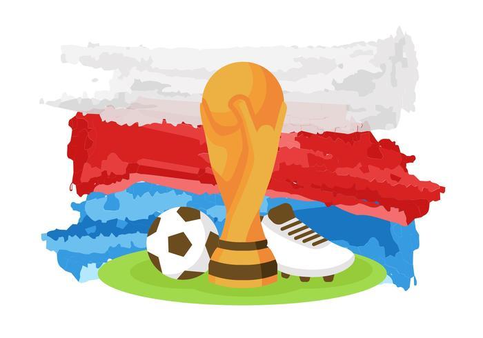Fri världscup Ryssland 2018 Vektor