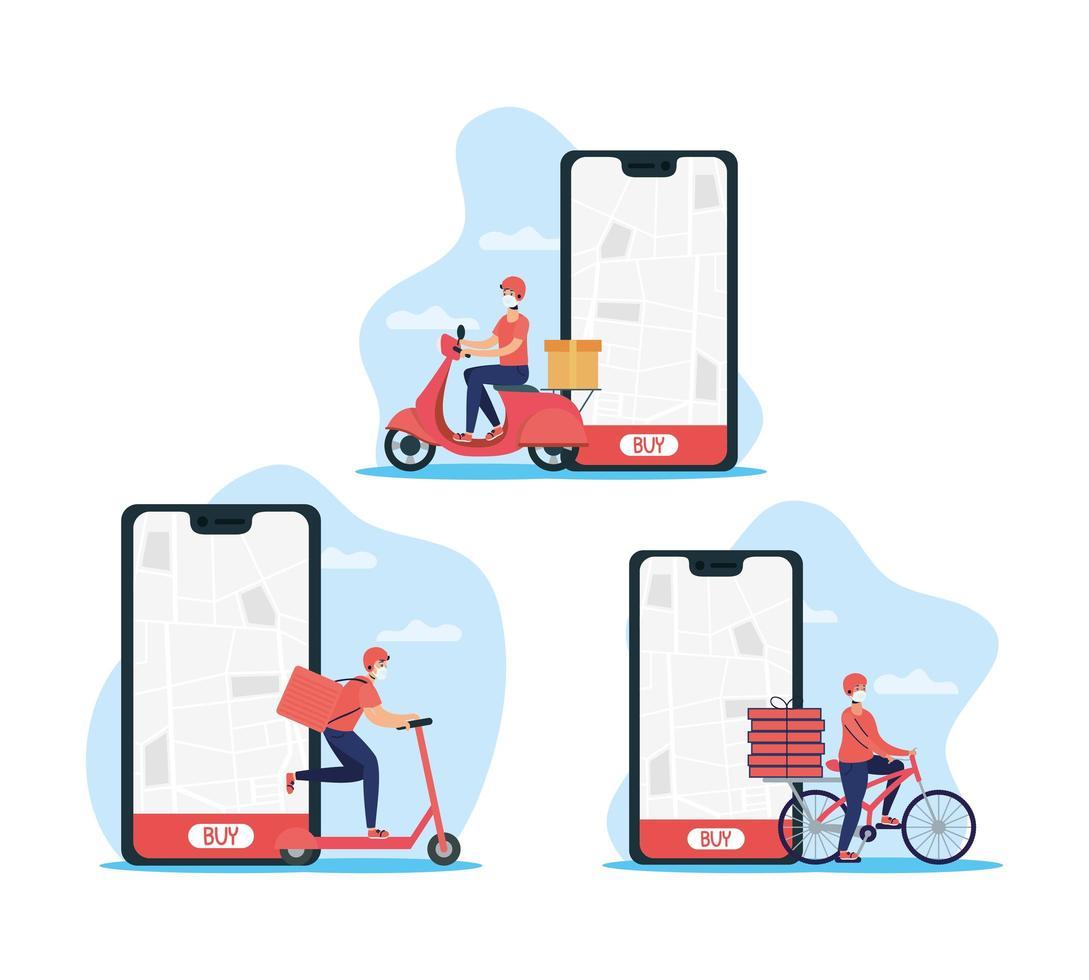 Online-Lieferservice per Smartphone vektor
