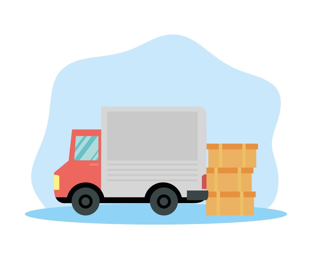 lastbil för leveransservice vektor