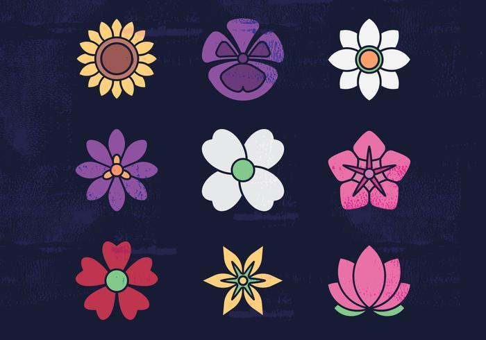 Blommor Vector Ikoner
