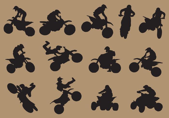 dirtbike sport silhuetter vektor