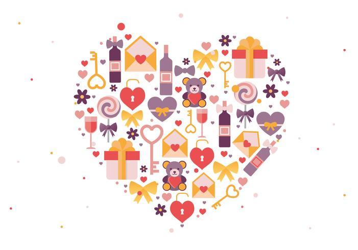 Valentinstag-Vektor-Gruß-Karten-Illustration vektor
