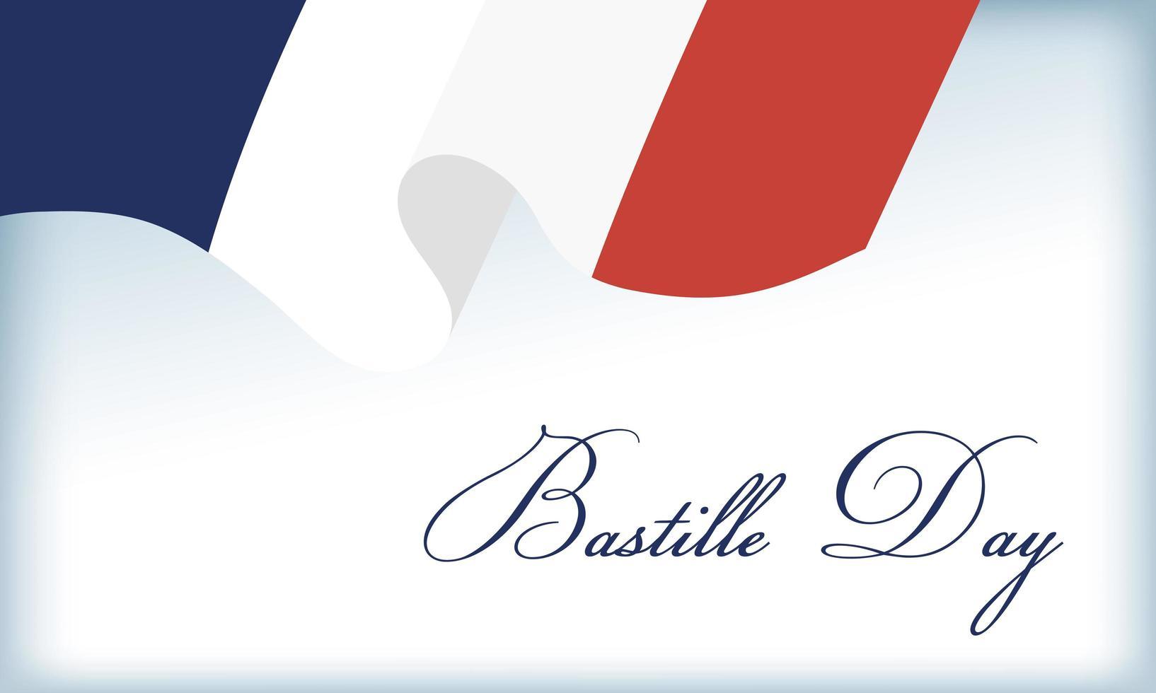 bastille dag firande med fransk flagga vektor