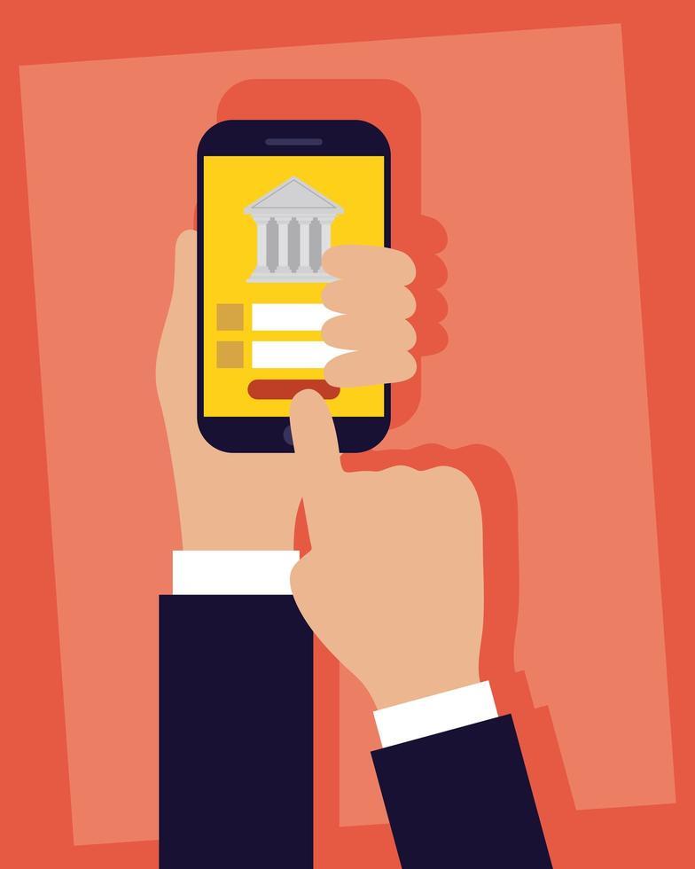 internetbankteknik med smartphone vektor