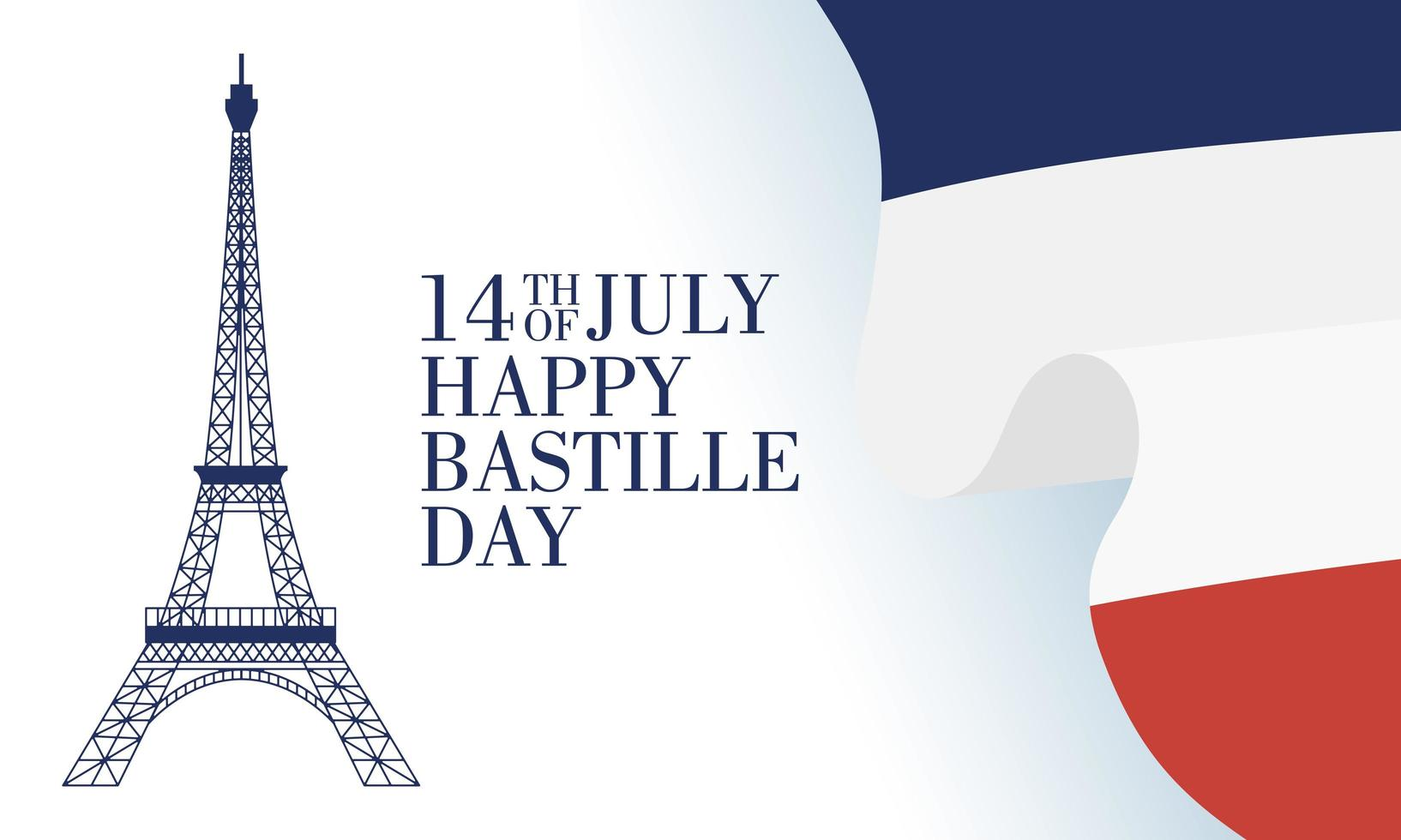 bastille dag firande med franska ikoner vektor