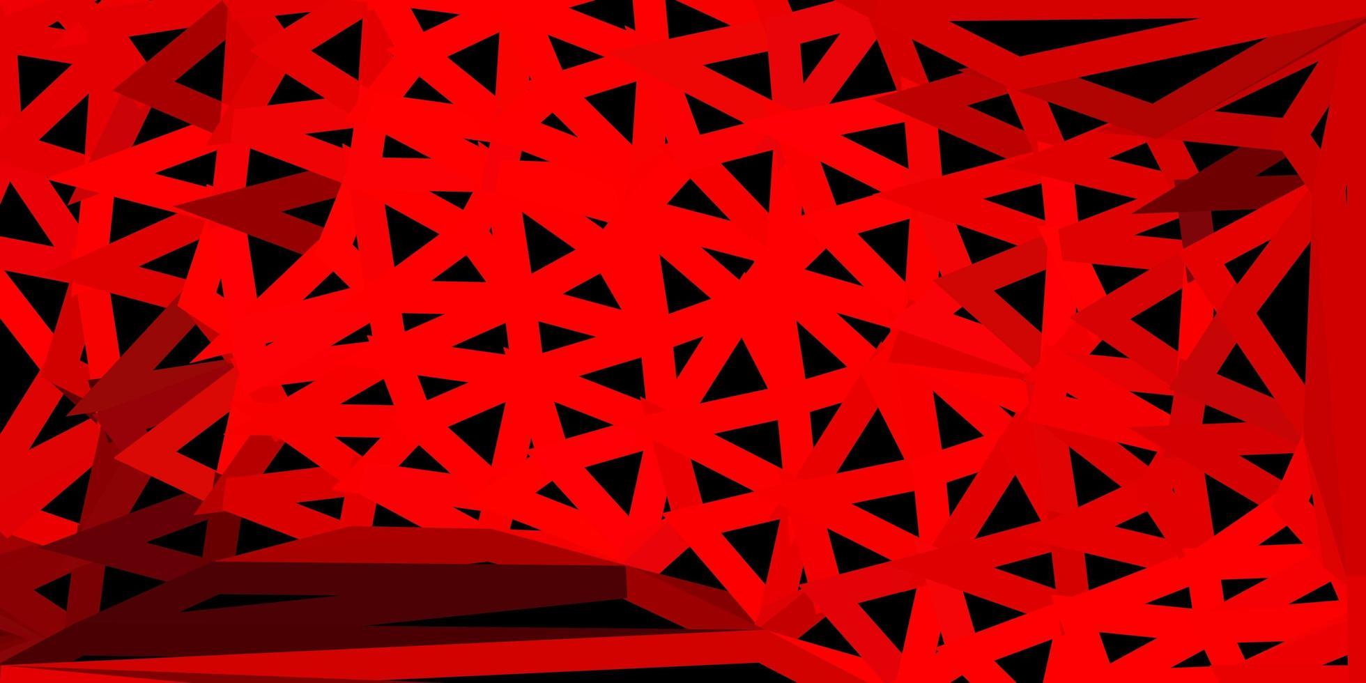 hellrotes Poly-Dreieck-Layout. vektor