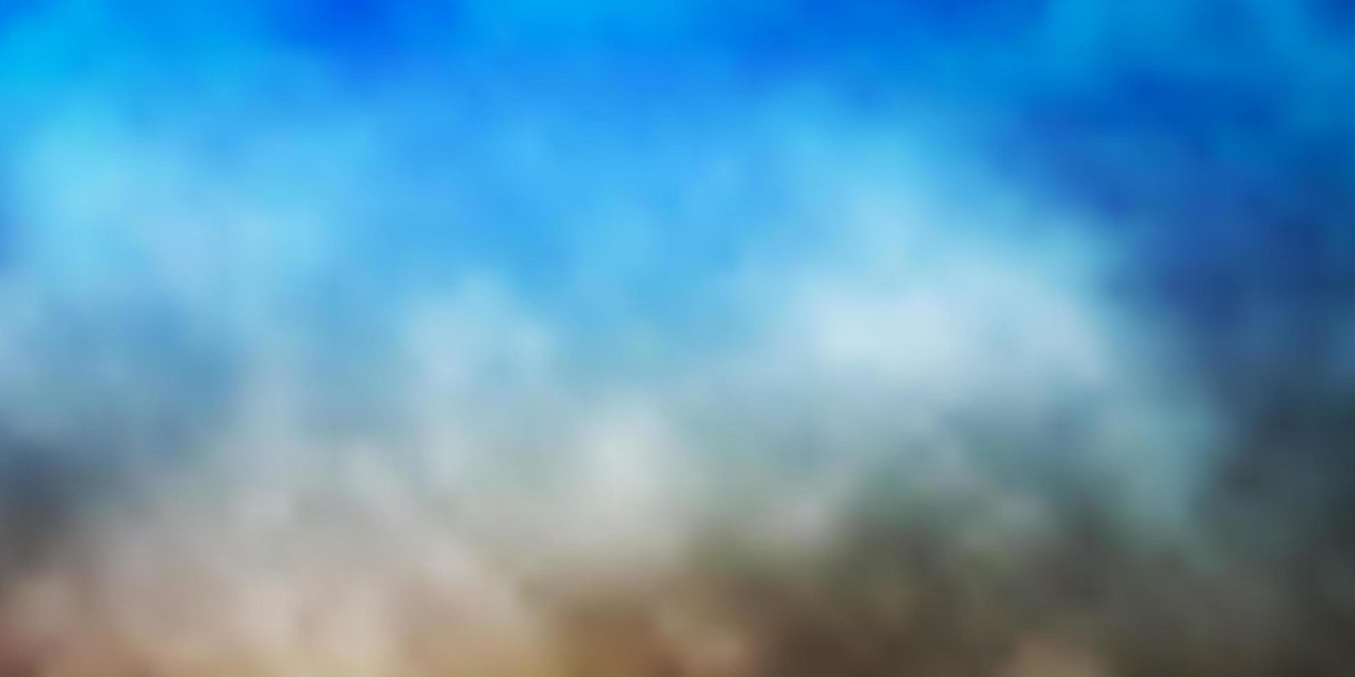 hellblauer, gelber Hintergrund mit Cumulus. vektor