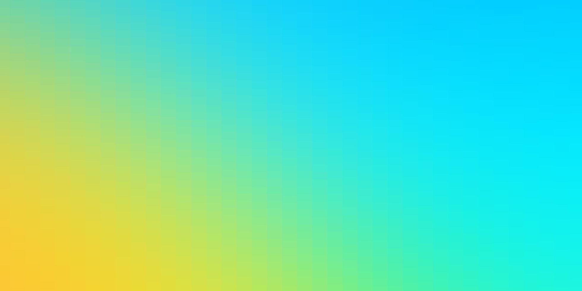 hellblaue, gelbe Schablone mit Rechtecken. vektor