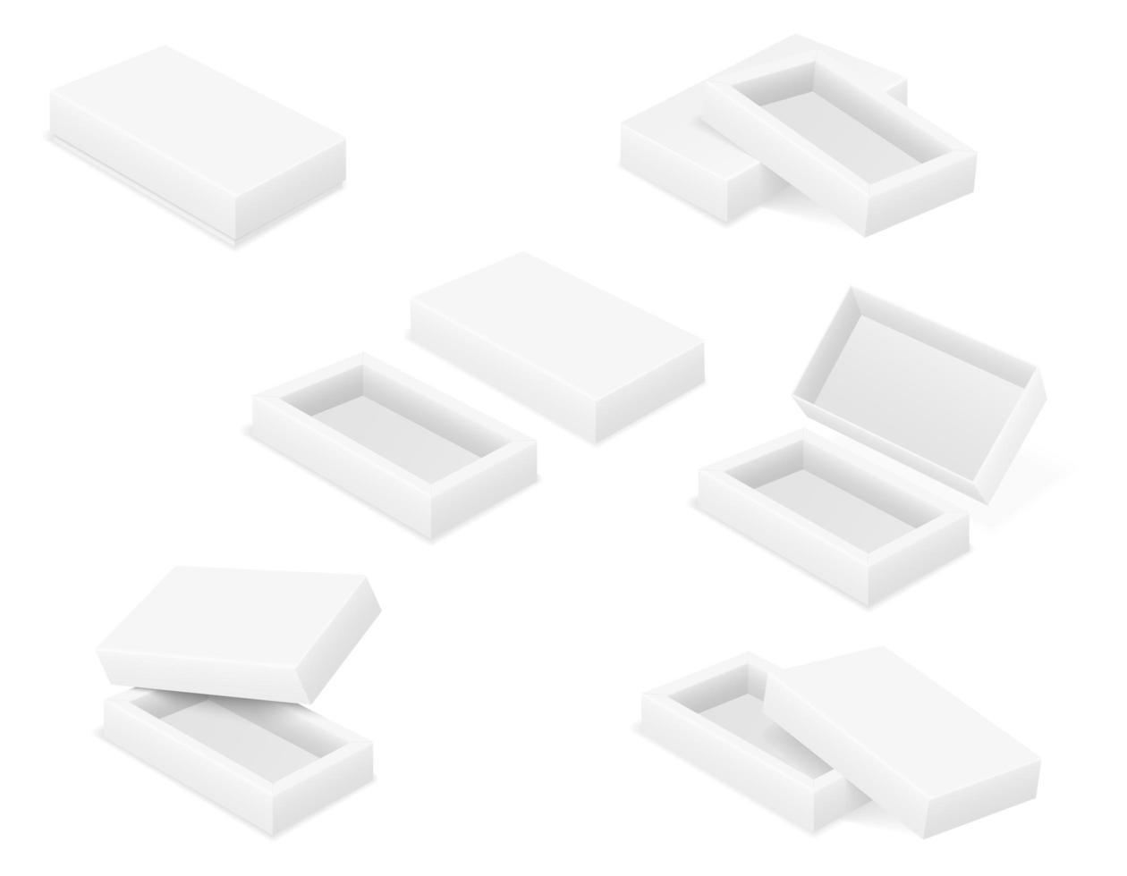 leeres Kartonverpackungsset vektor