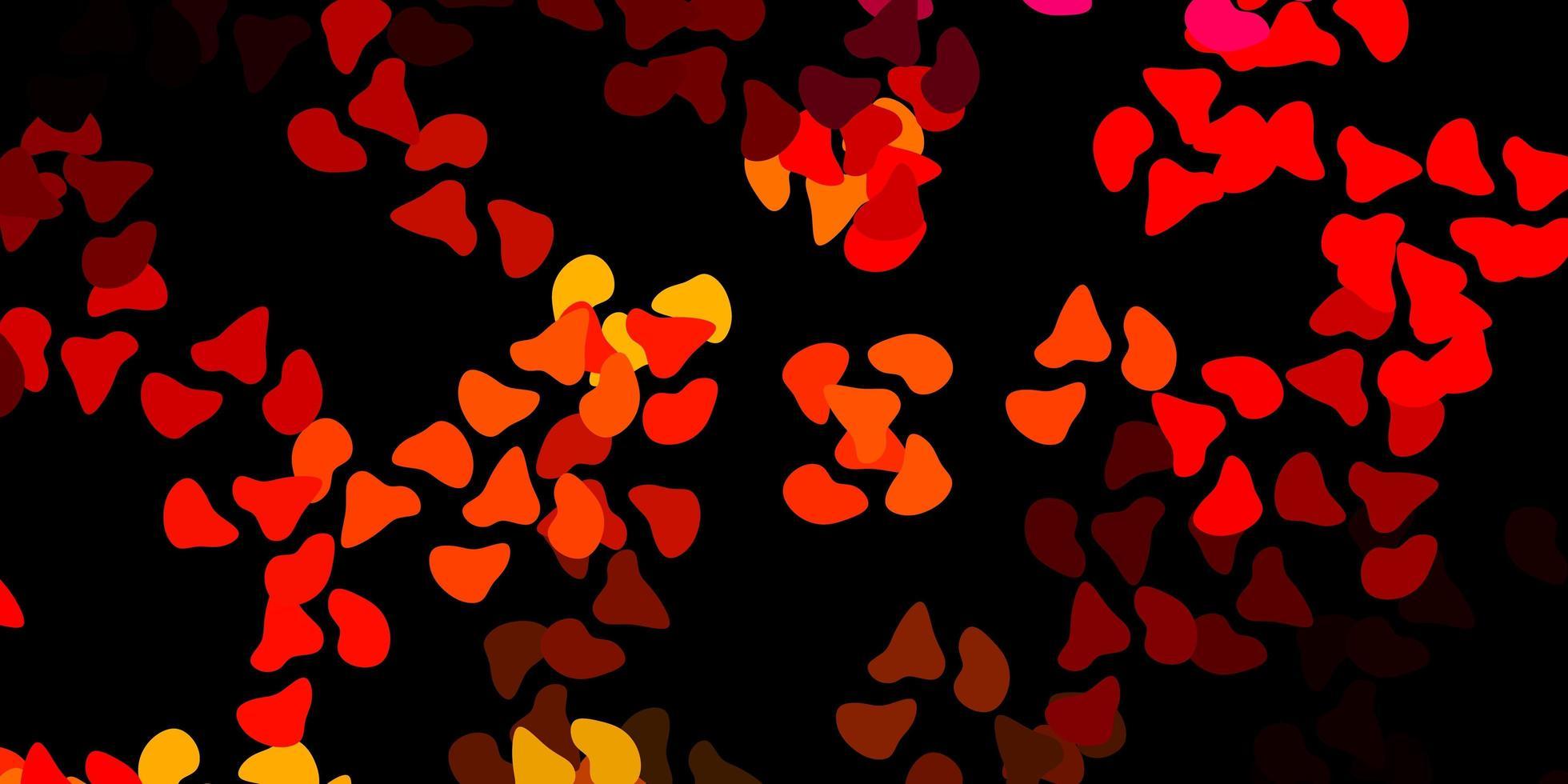 dunkelrotes Muster mit abstrakten Formen. vektor