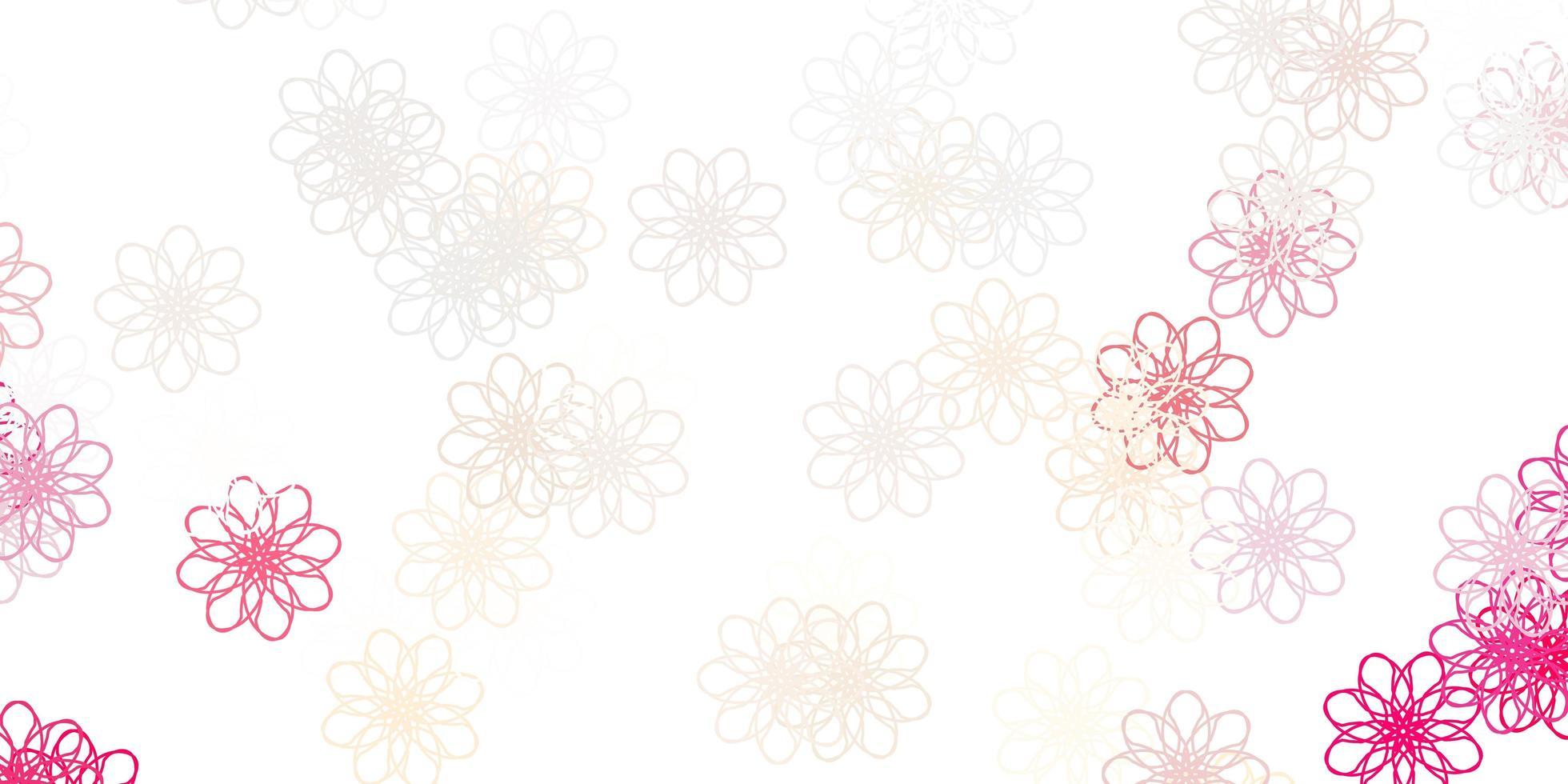 röd naturlig layout med blommor. vektor